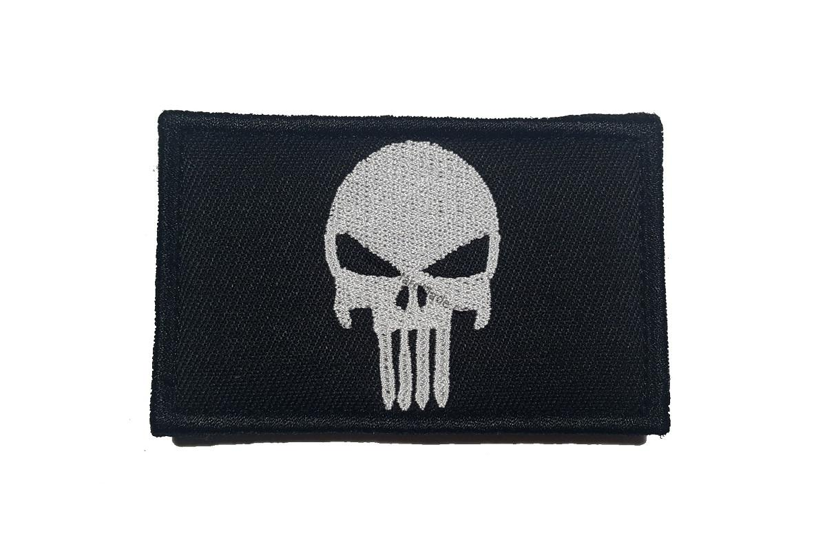 Punisher head big black patch nášivka