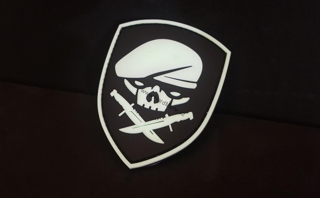 Pirate white patch PVC nášivka